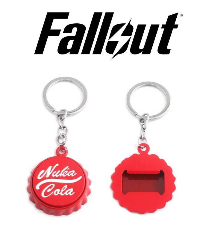 Брелок открывалка Fallout Nuka Cola Quantum Нука Кола красного цвета