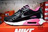 Кроссовки Nike Air Max 90 Black Pink Черные женские, фото 3