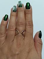 Кольцо серебряное, разьемное Кира с золотом , фото 1