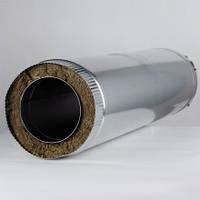 Дымоходная труба утепленная диаметром 100мм нержавеющем кожухе толщина 1,0мм/430