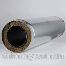 Дымоходная труба утепленная диаметром 130мм нержавеющем кожухе толщина 0,8мм/304