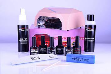 Стартовый набор для покрытия гель-лаком Vizavi №7
