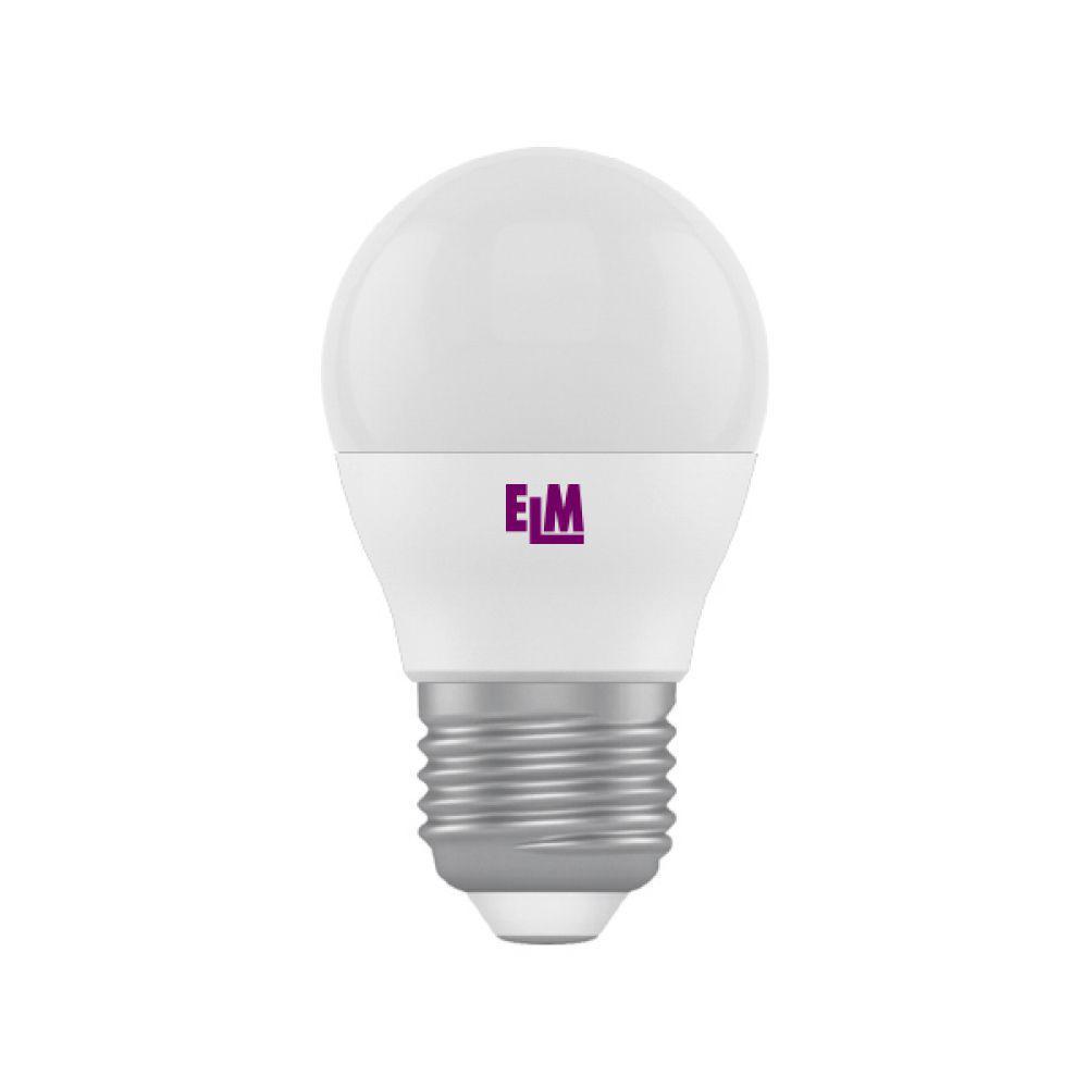 Світлодіодна лампа ELM D45 4W PA10 E27 3000 ELM (18-0084) Тепло-білий