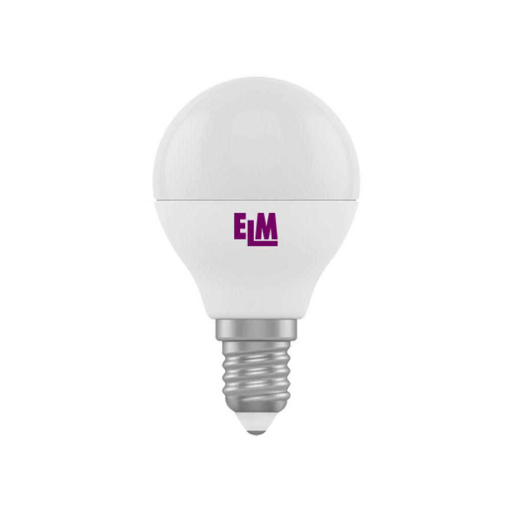 Светодиодная лампа ELM D45 5W PA10L E14 3000  (18-0072) Тепло-белый