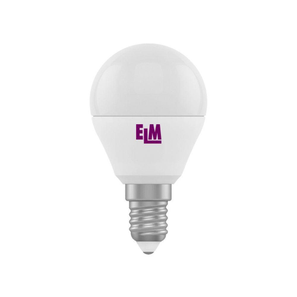 Светодиодная лампа ELM D45 6W PA10L E14 4000  (18-0133) Белый