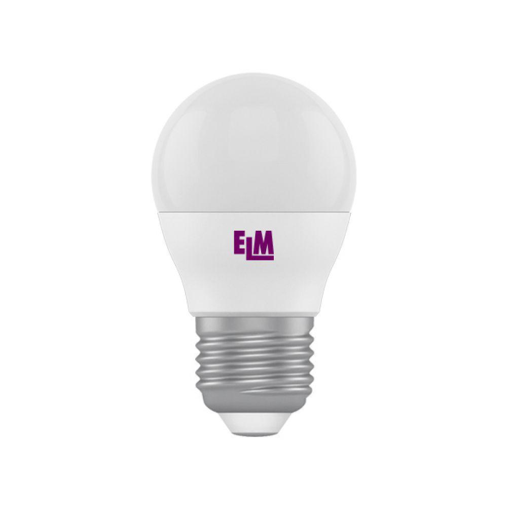 Світлодіодна лампа ELM D45 6W PA10L E27 3000 (18-0134) Тепло-білий