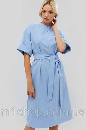 Прямое бенгалиновое платье с поясом (Savek crd), фото 2