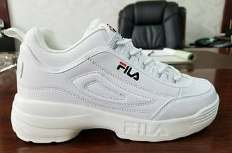 Кроссовки Fila Disruptor II White Белые женские реплика