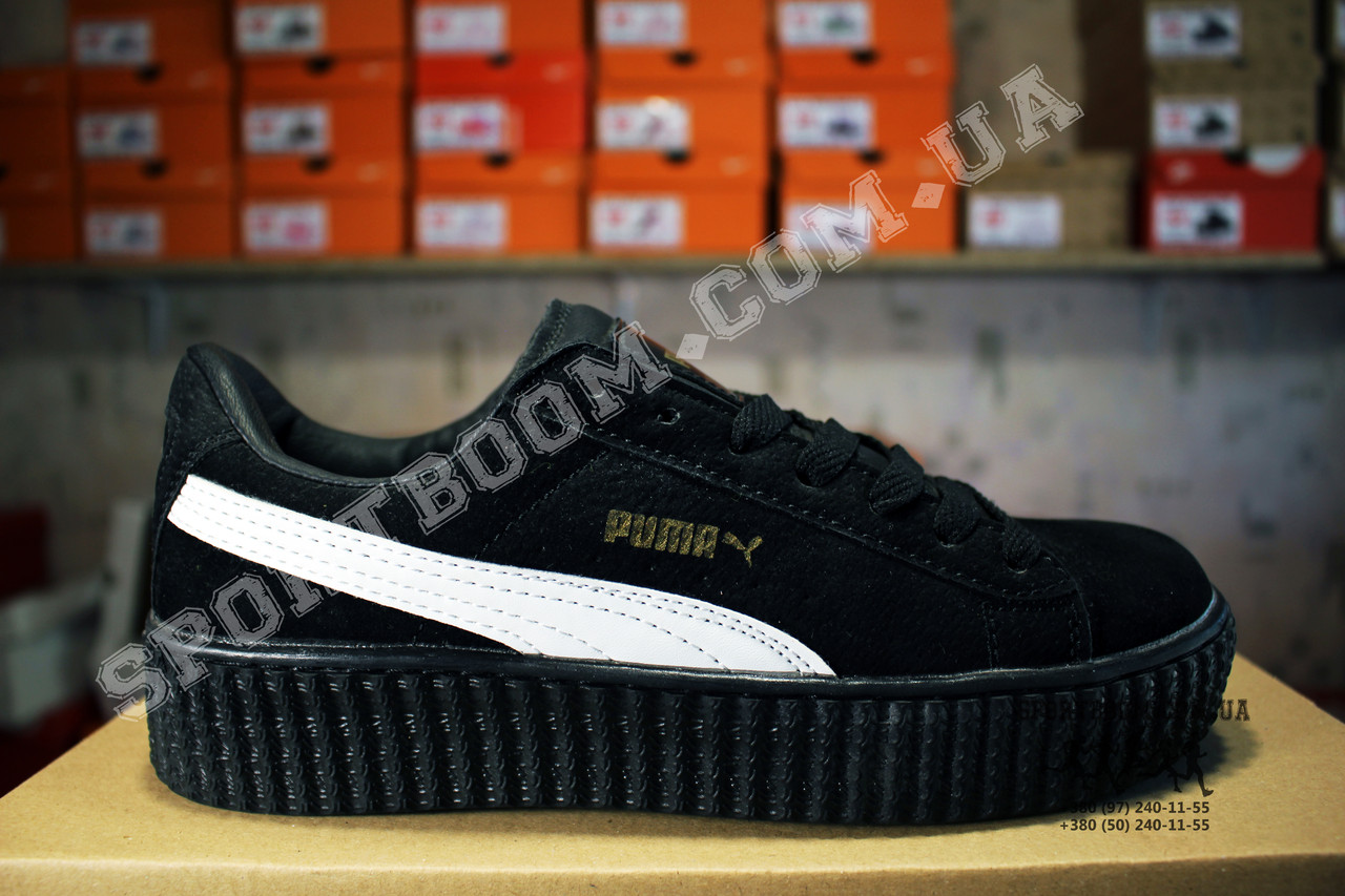 ... Кеды Puma Creeper Rihanna Black White Черные женские реплика 3 ... 4b395e58e6308