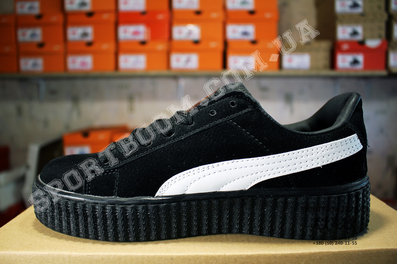 Кеды Puma Creeper Rihanna Black White Черные женские реплика  649 ... bd34855dae678