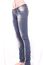 Джинсы для женщин со стразами по ногам, фото 2