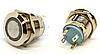 11-06-46. Кнопка антивандальная с подсветкой 19мм, без фиксации, 4 конт, 12V