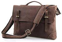 Стильная горизонтальная мужская сумка портфель из натуральной кожи в винтажном стиле Vintage 14441