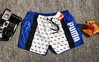 Шорты пляжные мужские Puma Пума сине-белые (реплика)