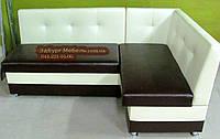 Диван угловой для кухни со спальным местом. Спинка с втяжками., фото 1