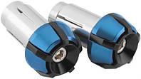 """Грузики руля мото BikeMaster 7/8""""-1"""", черные / синие"""