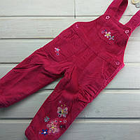 Комбинезон для девочки вельветовый на флисе. Размеры 6 месяцев
