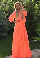 Платье женское шифоновое в пол  эс145