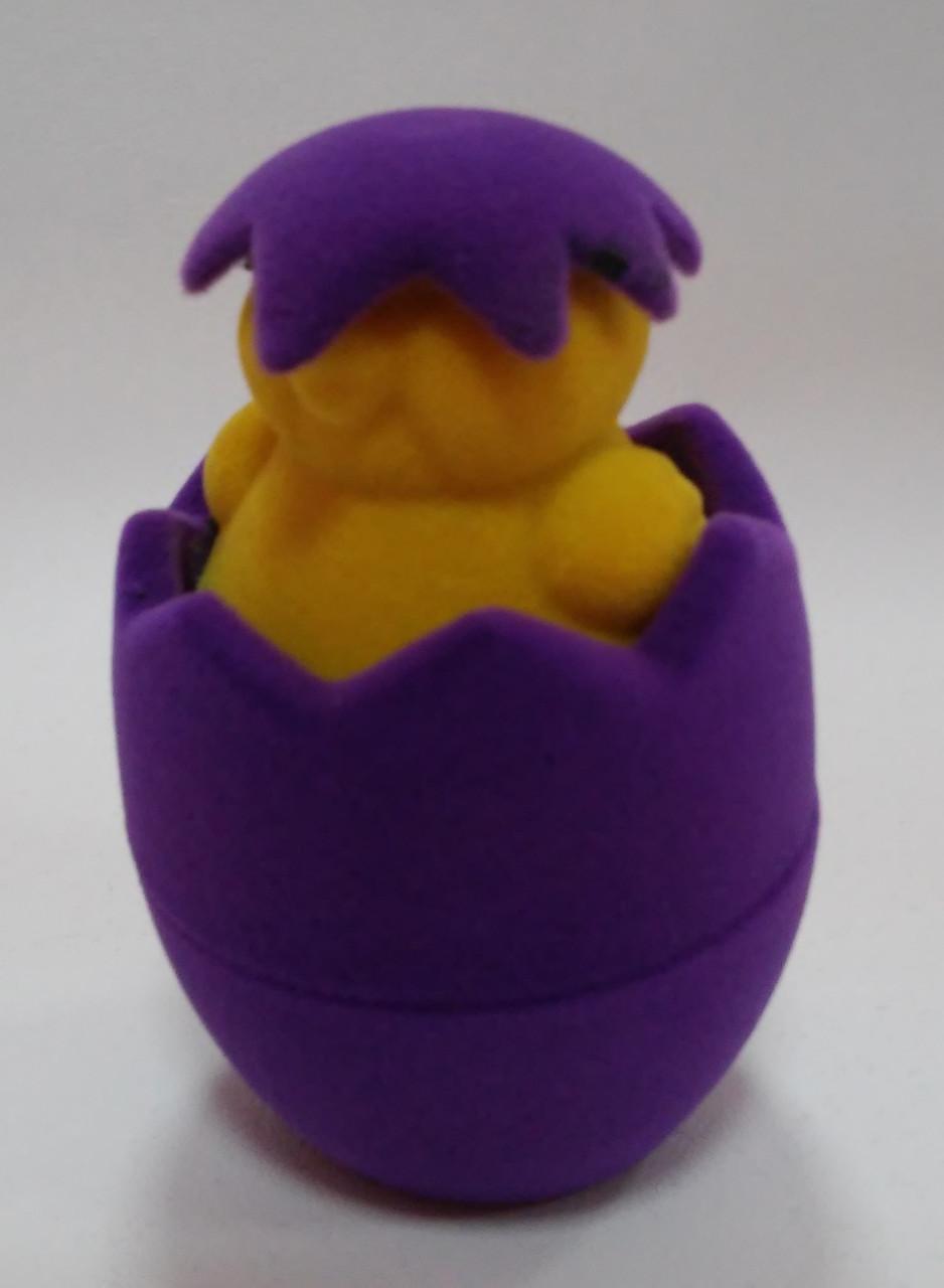"""Футляр для кольца бархатный """"Цыпленок"""" фиолетовый 112"""