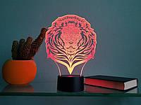 "3D светильник ""Лев"" 3DTOYSLAMP, фото 1"