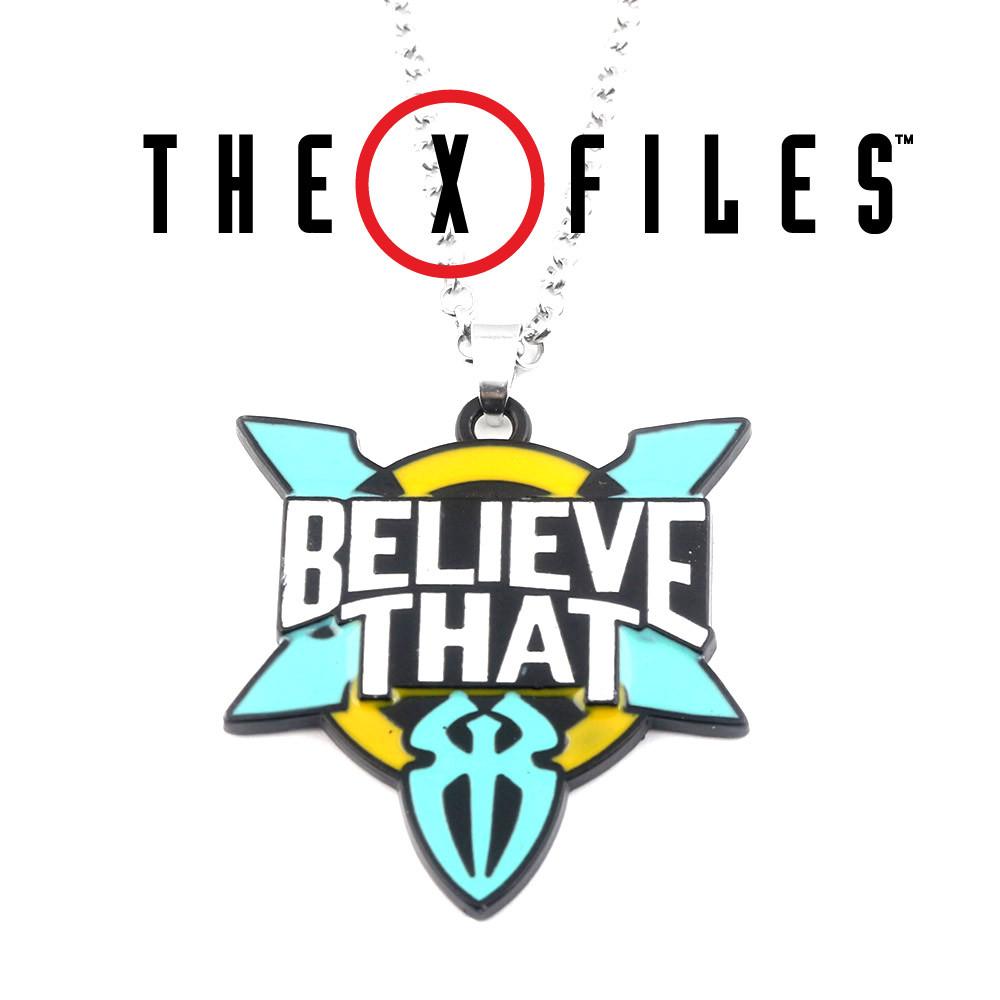 Кулон Believe that Секретные материалы Х-files разноцветный
