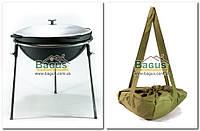 Казан чавунний 13л потовщений (7мм) 40см азіатський з алюмінієвою кришкою, триногою і чохлом Эколит 4017КВК-10, фото 1