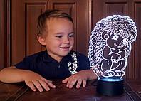 """Детский ночник - светильник """"Ежик"""" 3DTOYSLAMP, фото 1"""