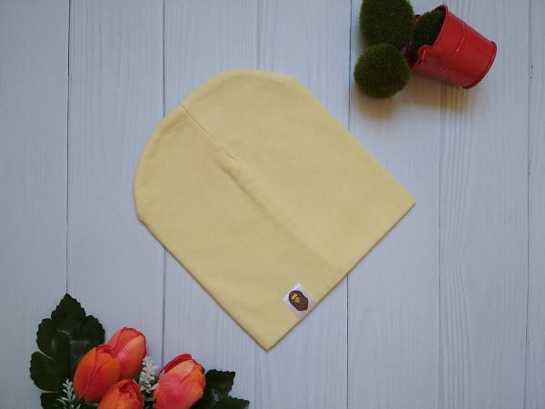 Стильная однотонная шапка на детей Bape Kidsсветло-желтая