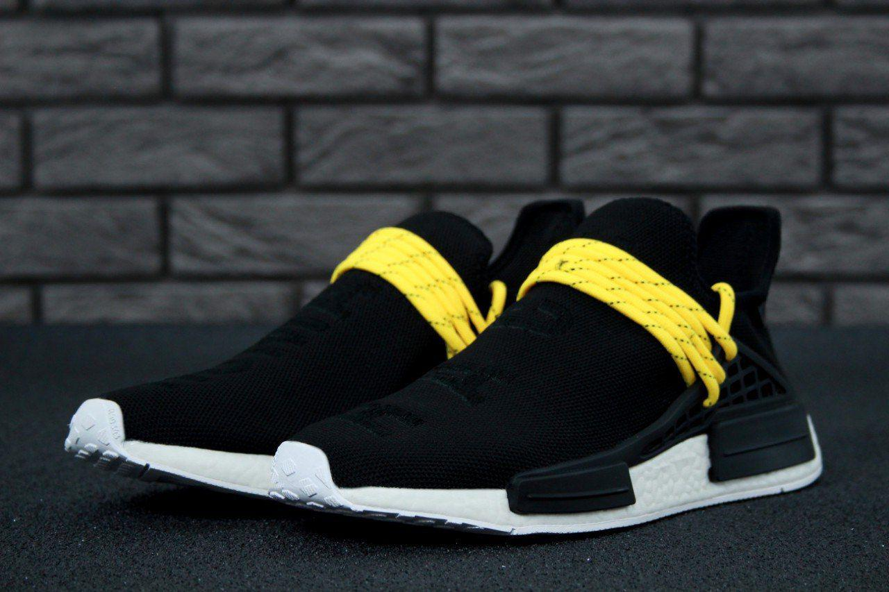 8319607e0b385c Мужские кроссовки Adidas x Pharrell Williams Human Race NMD Back Yellow  (Топ реплика ААА+