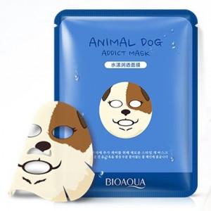 Увлажняющая тканевая маска для лица с принтом СобачкаBIOAQUA Animal Dog Addict Mask