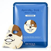 Увлажняющая тканевая маска для лица с принтом СобачкаBIOAQUA Animal Dog Addict Mask, фото 1
