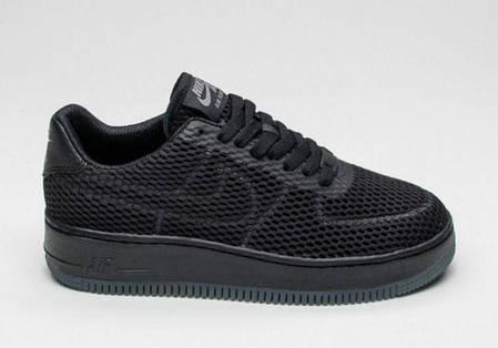 6786ba6b Мужские кроссовки Nike Air Force 1 Low Upstep Black (Топ реплика ААА ...