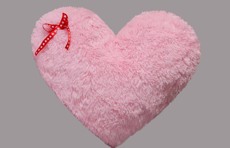 Плюшева іграшка Mister Medved Подушка-сердце Рожева 50 см