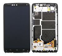 Оригинальный дисплей (модуль) + тачскрин (сенсор) с рамкой для Motorola Moto Droid Turbo XT1254 (черный цвет)
