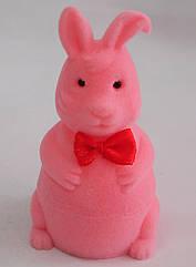"""Футляр для кільця оксамитовий """"Заєць"""" рожевий 105"""