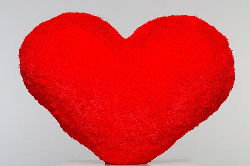 Плюшева іграшка Mister Medved Подушка-сердце Червоне 75 см