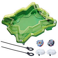 Набор Бейблейд Эволюция Арена и 2 волчка Волтраек V3 Сатомб S3 Beyblade Burst Evolution Star Storm Battle Set