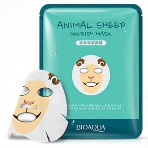 Питательная тканевая маска для лица с принтом ОвечкаBIOAQUA Animal Sheep Nourish Mask