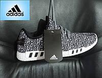 Кроссовки мужские Adidas Yeezy Boost. Кроссовки летние в стиле Адидас EQT. Реплика Бело - черные