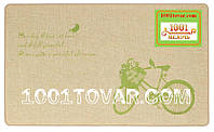 """Придверный коврик из льна на резиновой основе """"Welcome велосипед"""" 75х45х0,5 см."""