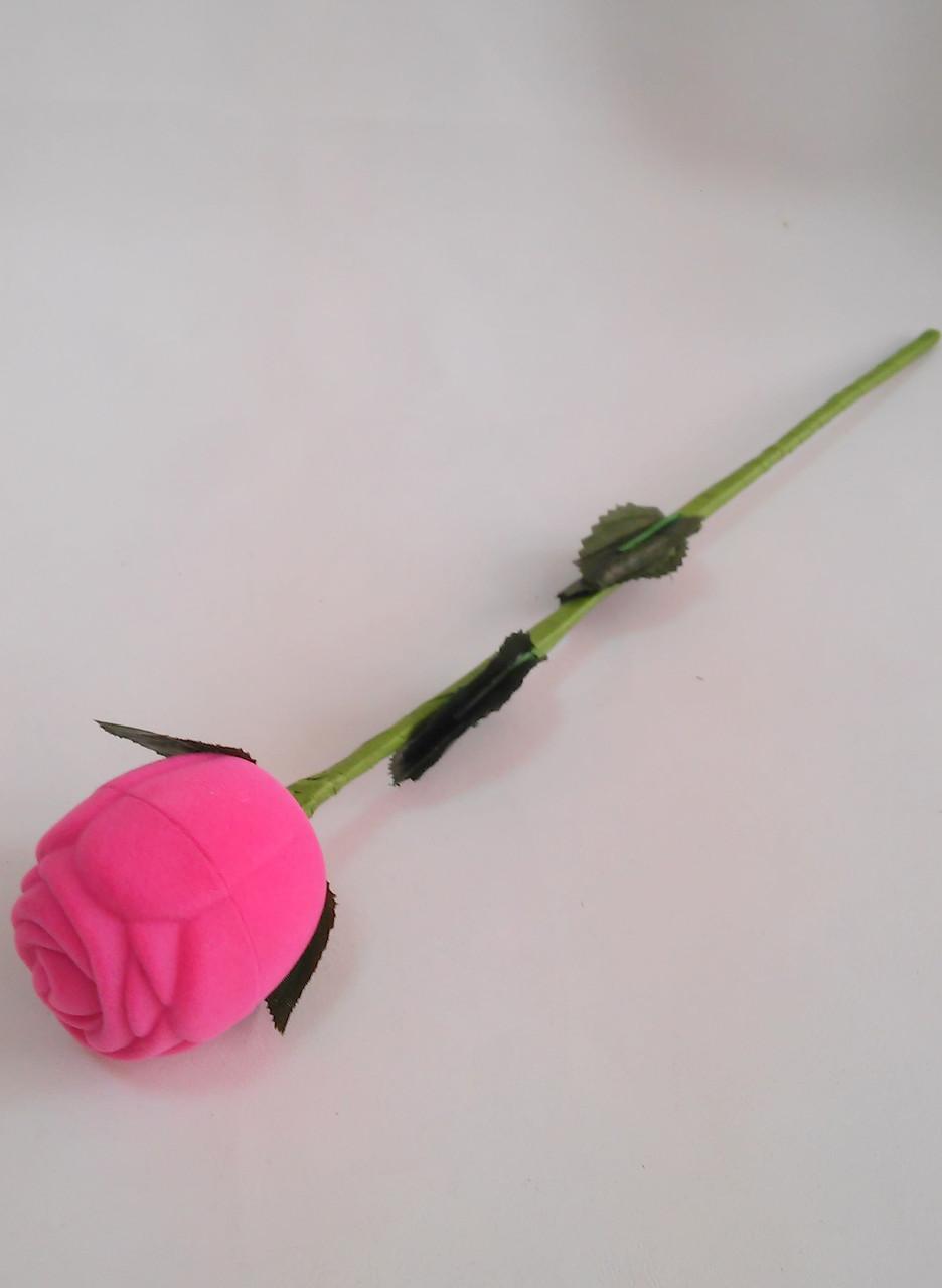 "Футляр для колец бархатный ""Роза на стебле"" 962А"