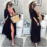 Женская пляжная туника модель #8 \ черная, фото 1