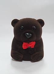 """Футляр для кільця оксамитовий """"маленький Ведмедик"""" 8076"""