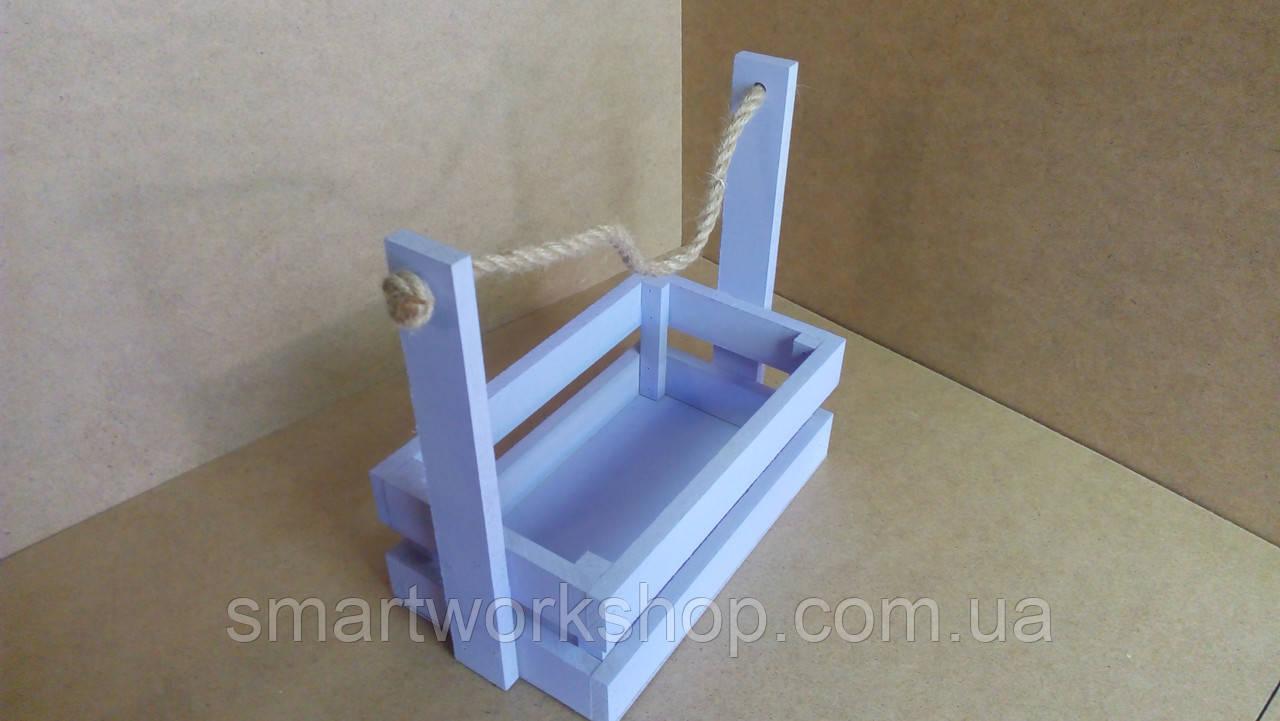 ящик из дерева для цветочных композиций фиолетового цвета заказ цены в запорожье ящики деревянные от Smartworkshop 732574133