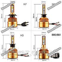 LED лампы для авто с чипом Philips1515/1313 H3, светодиодные лампы для автомобиля, фото 2