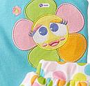 Комплект двійка боді з квіточкою і лосини з спідничкою (Розмір 6-9 міс) Nuby, фото 6