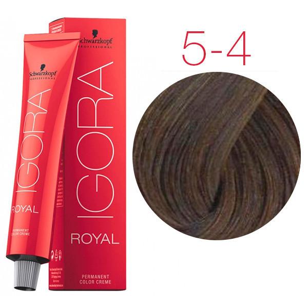 Schwarzkopf крем-краска для волос Igora Royal Golds 5-4 светло-коричневый бежевый
