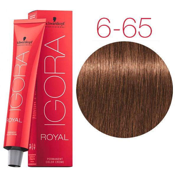 Schwarzkopf крем-краска для волос Igora Royal Chocolates 6-65 темно-русый шоколадный золотистый