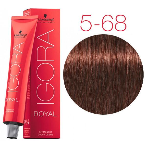 Schwarzkopf крем-краска для волос Igora Royal Chocolates 5-68 светло-коричневый шоколадный красный