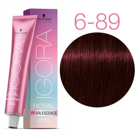 Schwarzkopf крем-краска для волос Igora Royal Pearlescence 6-89 темно-русый красно-фиолетовый